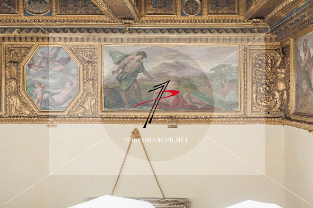 'Borea e Ortitia', 'Proteo' (?) - Artista: Giacinto Brandi (c. 1646-1648) - Affresco