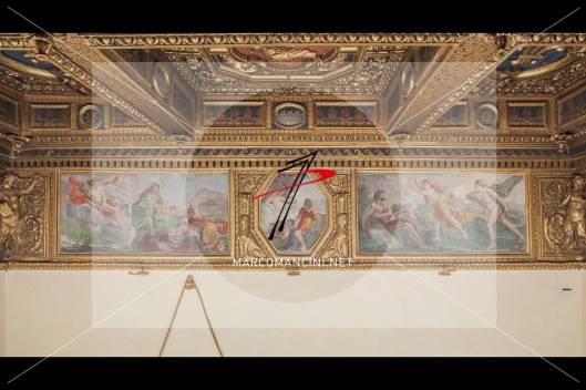 Medea e Aeson', 'Venere e Marte', 'Apollo e Dafne' - Artista: Giacinto Brandi (c. 1646-1648) - Affresco