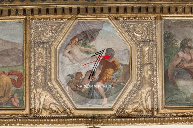 'Venere e Marte' - Artista: Giacinto Brandi (c. 1646-1648) - Affresco