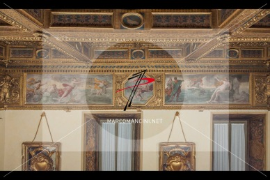 'Europa', 'Giove, Giunone e Io' 'Perseo e Andromeda' - Artista: Giacinto Brandi (c. 1646-1648) - Affresco